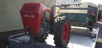 IRUS U1200 Einachsschlepper mit Anhänger, Traktor, Schlepper Oldtimer: