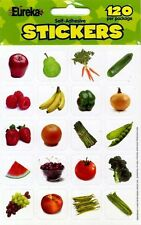 New 120 Assorted Fruits and Vegetables Shapes Photo Stickers Craft Stickers Art