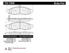 Ceramic Disc Brake Pad Set-C-TEK Ceramic Brake Pads Front Centric 103.11830
