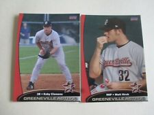 2005 Greeneville Astros set w/ KOBY CLEMENS + MATT HIRSH