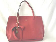 PERSAMAN NEW YORK ERICA RED LEATHER  TOTE MADE IN ITALY