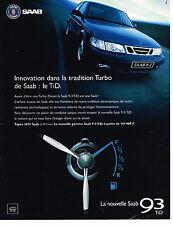 PUBLICITE ADVERTISING 124  1998  SAAB   9-3 TID