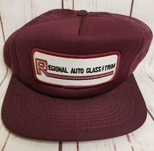 Regional Auto Glass & Trim Hat Cap Patch Snapback Truckers Mesh VTG Ontario CAN