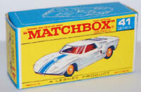 Matchbox Lesney No 41 Ford G.T. empty Repro Box style E