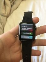 Apple Watch Series 3 42mm Aluminium Case Black Sport Band Smart Watch -...