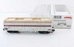 Märklin 48351 Hochbordwagen Eaos DB Brennholz Digital Infotage 2021  bs1906