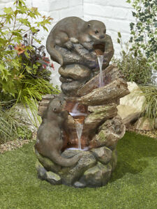 Otter Pools Water Feature with LED Lights by Kelkay