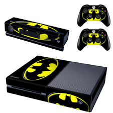 Batman Xbox One Console SKIN + 2 x Controller Stickers Decal FacePlate - Pad