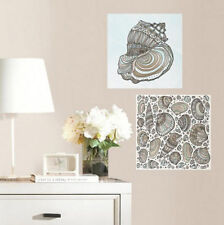 COLOR YOUR OWN DECAL Seashells 2 large wall stickers 11.75 inches bathroom ocean