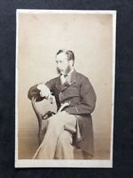 Victorian Carte De Visite CDV: Unknown Distinguished Gent: Walking Cane