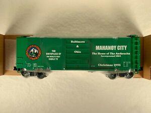 WEAVER 3-RAIL 'O', B&O 'SERVICE ELECTRIC CABLE TV MAHANOY CITY BOX CAR (243)