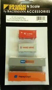 ** BRAND NEW **   N Gauge Containers X 4  FARISH / BACHMANN