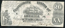 T-18 1861 $20 Twenty Dollars Csa Confederate States Of America