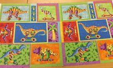 Clothworks-Dino 's A Festa Per Bambini-Quadro GRUPPO Dinosauro - 100% COTONE