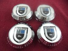 Asanti Wheels Black Label Chrome Custom Wheel Center Caps Set of 4 # 743C01