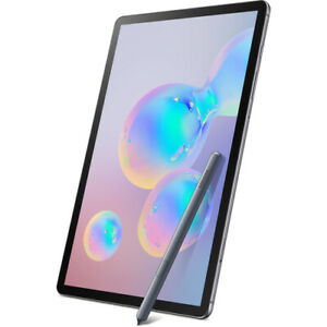 """NEW SAMSUNG GALAXY TAB S6 SM-T860 128GB 10.5"""" WIFI MOUNTAIN GRAY WITH S PEN"""