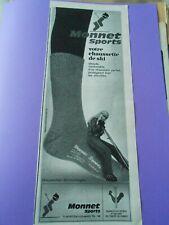 Publicité advertising 1969 Monnet Sports chaussette de ski chaude