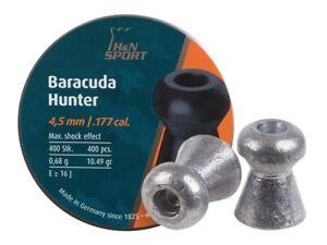 H/&n Sport 92174500003 Baracuda Hunter Hollowpoint Pellets .177 Caliber for sale online