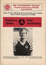 DDR-Liga 87/88 ZEPA Sajonia anillo Zwickau-TSG markkleeberg, 20.05.1988