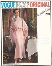 60's VTG VOGUE PARIS ORIGINAL Evening Dress Christian Dior Pattern 2230 12 UNCUT