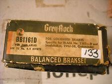 Brake lining Grey-Rock BB1161D 2 axle Studebaker 1942-38 Commander Lockheed BLMA