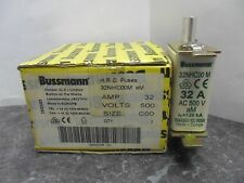 New Lot Bussmann HRC 32 Amp 32NHC00M Fuses 500 Volts NIB