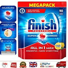 Finish Dishwasher Tablets All in 1 Max Lemon 90 Count Best Cleaner Powerball 90