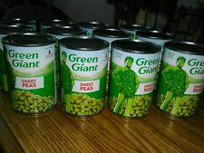 (12) Cans Green Giant Sweet Peas * 15 Oz. Each * Best by 12/2022