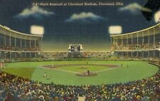 Cleveland Stadium,Home of the American League Indians,Linen,Used,1951
