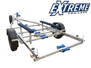 New Extreme 1300Kg Shrimper Galvanised Braked Boat Trailer