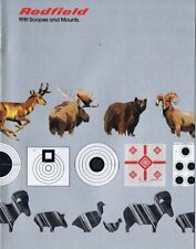 ORIGINAL Vintage 1981 Redfield Scopes and Mounts Catalog