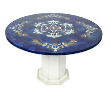 80 cm Pietra Dura CouchtischTisch Florentiner Mosaik table wohnzimmertisch Lapis