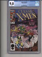 CLASSIC XMEN #6 CGC 9.0 WPGS BOLTON PINUP,  ART ADAMS & CRAIG RUSSELL COVER 1987