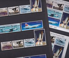 Gibraltar 2003 Mint MNH Used CTO Set Minisheet Aviation History of Planes Space
