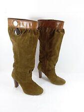 Women's Michael Kors MK Slouch Boots Brown Suede Sz 8.5 M