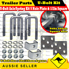 Galvanized Leaf Spring U-Bolt Kit Suits 50mm Square Axle with 50x125mm U-Bolts