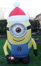 Gemmy 7.5' Despicable Me STUART MINION Christmas Inflatable Airblown Santa
