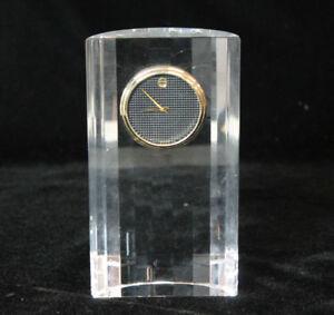 Beautiful Movado Museum Dial Crystal Table Top Clock TCL-130M Beautiful