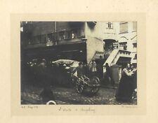 Augsbourg scène de rue Allemagne Photographie artistique Vintage argentique 1912