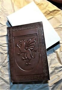 """6 x 5""""  Trinity Crafts Handmade Dragon Embossed  Leather Journal Diary"""
