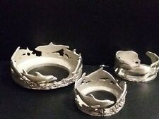 Dolphin Lovers Solid Pewter Single Candle-Holder made in the Usa By Encore