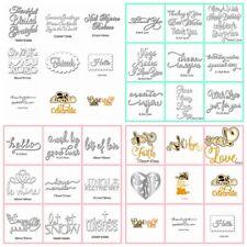 Styles Letters Metal Cutting Dies Stencil Scrapbooking Card Paper Embossing Word