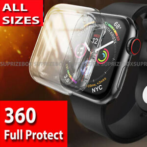 For Apple Watch Series 6 5 4 3 2 1 SE Ultra thin 360 Screen Protector Case Cover