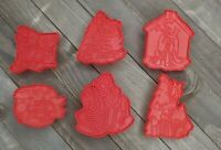 Vintage 80's Disney Christmas Cookie Cutters Mickey Minnie Goofy Donald Set of 6