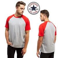 Converse Chuck Mens T-Shirt Red Tri Colour Blend Casual Sports Tee Shirts