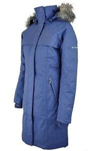 Columbia Women's Long Omni Heat Hooded Insulated Flurry Run Winter Coat NWT Blue