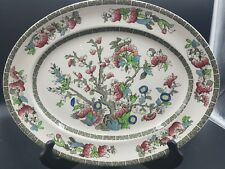"""Johnson Brothers Indian Tree 12x9"""" Polychromatic Oval Platter Made in England"""