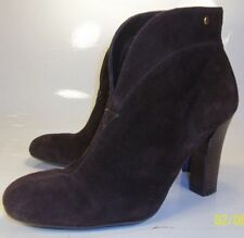 Franco Sarto Limber Womens US7 M Brown suede Pull-on Ankle boots Booties Shoes