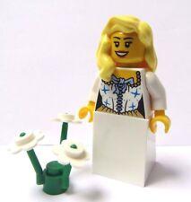 Lego Female Girl Minifigure Princess Bride Maid Blonde Wavy Hair Wedding Blue