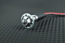 8mm 12v White LED Metal Indicator Light | Pilot Dash Pre-Wired LED - US Seller